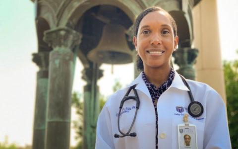 Family nurse practitioner program graduate Charlon Orr (DNP '20) at Bayless Plaza